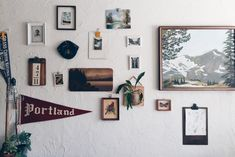 Why pennants? Collecting vintage pennants to connect to our past and special places and moments we've experienced. Nook Table, Vintage Decor, Sweet Home, Gallery Wall, Entertaining, Frame, Basement, Home Decor, Collections