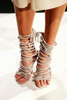 Shoes Ill never wear. / Rope it up Monika Chaing |2013 Fashion High Heels|