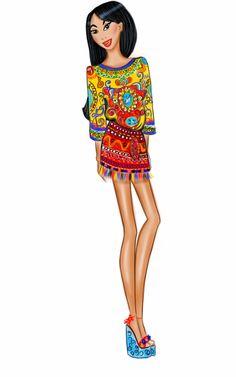 #Mulan wearing #Dolcegabanna #D&G #SS16 by #LilyFashionSketch #FashionIllustration