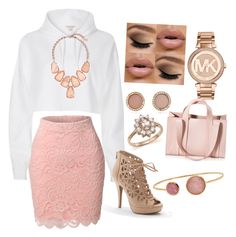 """This color is Perfection."" by emerydanielle ❤ liked on Polyvore featuring LE3NO, River Island, Apt. 9, Kendra Scott, Michael Kors, Bloomingdale's, Corto Moltedo and Jona"