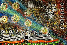 Amazing Australian Aboriginal Artwork by Reggie Sultan / Seven Sisters Dreaming is the title of the painting. Nordic Aliens, Aboriginal Artwork, Ancient Aliens, Body Painting, Line Art, Sisters, Artist, Bodypainting, Body Paint