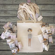 Tote bags by Nicola Rowlands