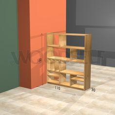 Etagère de séparation - plan du meuble
