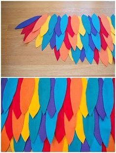 hello, Wonderful - DIY RAINBOW BIRD WING COSTUME