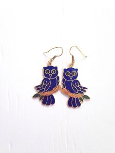A personal favorite from my Etsy shop https://www.etsy.com/listing/252011639/10-off-sale-vintage-blue-owl-cloisonne