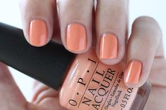 OPI New Orleans Crawfishin' For A Compliment Peach Cream Nail Polish - Summer Nails