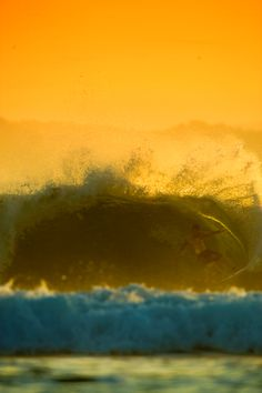 Golden Day on the waves
