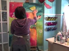 """Donna Downey: """"Be the Change"""" canvas - time lapse"""