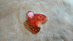 Hey, I found this really awesome Etsy listing at https://www.etsy.com/listing/213251907/christmas-knitwear-mouse-brooch