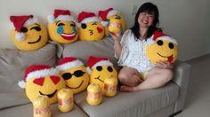 Almofada-de-Crochê-Emoji -Natal-Cristina Loriko