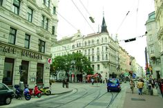 Josefstaedter Strasse in Josefstadt d.), what is called a 'prime residential area'. I lived there for a while, a wonderful and authentic piece of Vienna. Austria, Honeymoon Pictures, Life Photo, Most Beautiful Pictures, Squares, Travelling, Cities, Arch, To Go