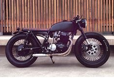 Black on Black Honda CB750 custom build from Seaweed Gravel and Ugly Motorbikes. Bike of the Century This bike is the most sought bike for Cafe Racers and there is good reason. This bike can be modified in so many ways. The engine is super tight with only 20k miles.