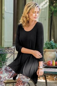Timely Scoop Top from Soft Surroundings
