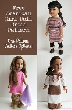 FREE tutorial: The Craft Patch: American Girl Doll Basic Knit Dress Pattern and Tutorial