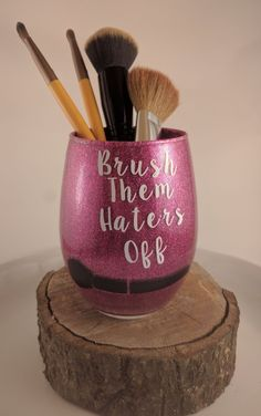 Finally a makeup brush holder worthy of your brushes. Add sparkle to any space and store things beautifully with this glass container. It can hold much more than brushes. Makeup Brush Holders, Makeup Brush Set, Makeup Guide, Makeup Geek, Beauty Makeup, Best Makeup Brushes, Best Makeup Products, Beauty Products, Makeup Storage