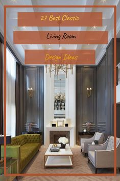 27 Best Classic Living Room Design Ideas #livingroomdesignideas Living Room Designs, Living Spaces, Classic Living Room, Design Ideas, Furniture, Home Decor, Decoration Home, Room Decor, Home Furnishings