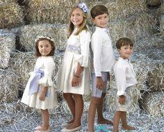 tendencias niños arras o boda - Buscar con Google Fashion Kids, Informal Weddings, Girls Dresses, Flower Girl Dresses, Page Boy, Communion Dresses, Wedding With Kids, Matching Outfits, Dream Dress