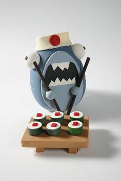 shark. Figura de chocolate realizada en el 2012