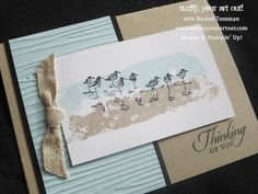 Greeting card made with Wetlands stamp set… Stampin' Up!® - Stamp Your Art Out! www.stampyourartout.com