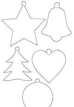 Resultado de imagem relacionado Handmade Christmas Decorations, Felt Decorations, Felt Christmas Ornaments, Diy Christmas Gifts, Christmas Projects, Holiday Crafts, Christmas Crafts, Christmas Stencils, Christmas Templates