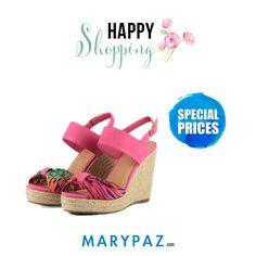 Happy Shopping by MARYPAZ   Compra ya tu sandalia de cuña favorita AHORA con nuestros SPECIAL PRICES ¡ Un precio muy especial que no podrás resistir !  ¡ Disponible ya en tu tienda MARYPAZ más cercana y en marypaz.com !   #happyshopping    Compra este STILETTO DE TACÓN aquí► http://www.marypaz.com/tienda-online/sandalia-de-cu-a-y-plataforma-con-frunce-57104.html?sku=73505-35