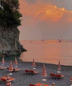 Positano Beach, Amalfi Coast Positano, Positano Italy, Vintage Italian, Beach Trip, Beautiful World, 1, Sunset, Sorrento