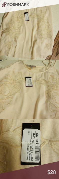 NWT Miss Me halter NWT Miss Me halter. Cream with lace detail. Lined. Miss Me Tops Tank Tops