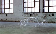 Amazing installations!  Luka Fineisen - Bubbles (2010) - Plastic