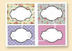 Floral Labels Digital Food Labels Tea Party Labels