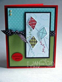 Greeting Card Birthday Let's Go Fly A Kite by JanTink on Etsy, $4.95