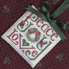 The Drawn Thread - Peace, Love & Joy Ornament