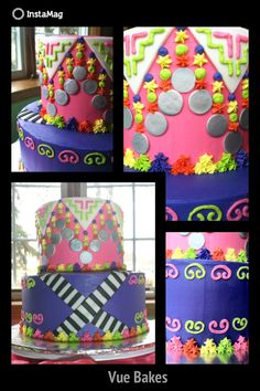 Hmong textile design inspired cake I made for a friend's daughter.