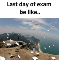 You will get happy when you finish your last exam Exam Quotes Funny, Exams Funny, Exams Memes, Funny School Jokes, Funny Girl Quotes, School Humor, Funny Memes, Funny Pins, Sarcastic Memes