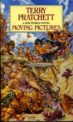 First book I ever read from Terry Pratchett. Laughed since the first line!! Any others I have read have been just as awesomely funny from the Discworld series.  Lately he's been writing for young readers. A bit more serious but really good, too.  funny contrast! :) moving-pictures-2.jpg (479×800)