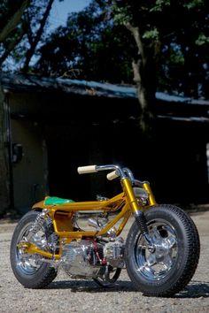 Chop it like you STOLE it! : chromjuwelen: (via Imitation Gold) Custom Motorcycles, Custom Bikes, Cars And Motorcycles, Scooter Custom, Concept Motorcycles, Honda Ruckus, Honda Cub, Honda Bikes, Japanese Motorcycle