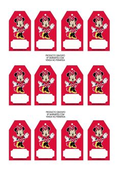 etiquetas de Minnie