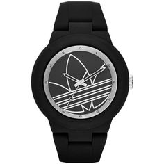 adidas Originals 'Aberdeen' Sports Watch, 41mm ($85) ❤ liked on Polyvore featuring jewelry, watches, accessories, water resistant watches, adidas originals, adidas originals watches, sporty watches and oversized jewelry