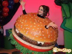 Jade the happy hamburger.