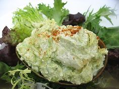 Simple, smooth, tangy and refreshing avocado salad served in the shell