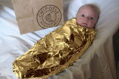 baby burrito--OMG, hahaha!  If that kid, er, parents didn't earn a free meal, I don't know what could.