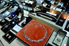 Stunning fine jewellery on display from Anthea A G Antiques at Grays. Fine Jewelry, Jewellery, Display, Antiques, Antiquities, Jewels, Antique, Jewelry Shop, Billboard