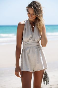 The Lori Halter Playsuit is made from light 94de5123bb002