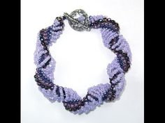 Video: Dutch Spiral Bracelet or Necklace by Jill Wiseman - #Seed #Bead #Tutorials