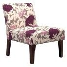 Avington Upholstered Slipper Chair - Lavender Floral