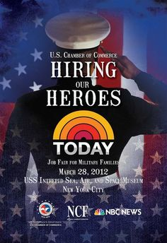 Today Show working to help vets get hired.  Vetreprenuer Magazine has current survey for Top 10 Military Friendly Corps open till Feb 24 at www.navoba.com/top10survey.  April issue will announce Top 10 Military Friendly Corporations.  Go vets!