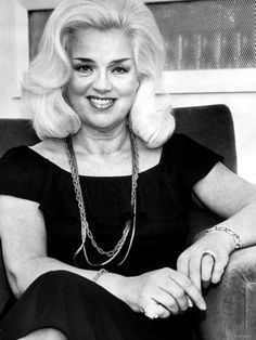 Diana Dors, April 1984 - just a few weeks before her death, aged 52.