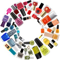 nail polish #rainbow