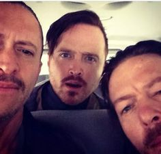 Clifton collins jr, Aaron Paul and Norman Reedus