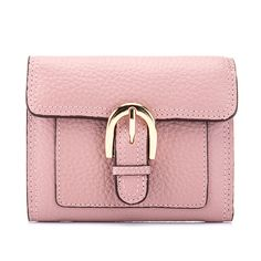 Fashion Women's Genuine Leather Wallets Ladies Leisure 100% Natural Leather Purse Female Casual Solid Brief Tri-fold Coin Purse #Affiliate