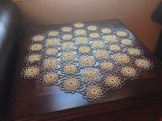 Crochet beaded doilytable tooper by hiyambeads on Etsy